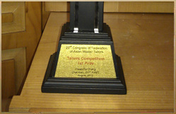 2010 Congress of Fed. of Asian Master Tailers - 1st Prize